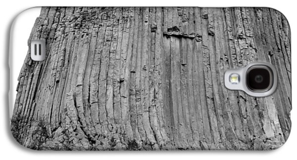 3rd Base Galaxy S4 Cases - Devils Tower National Monument 3 bw Galaxy S4 Case by Elizabeth Sullivan