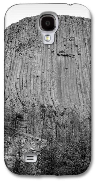 3rd Base Galaxy S4 Cases - Devils Tower National Monument bw Galaxy S4 Case by Elizabeth Sullivan