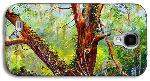 Nature Center Paintings Galaxy S4 Cases - Devine Oak Galaxy S4 Case by AnnaJo Vahle