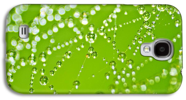 Nature Abstracts Galaxy S4 Cases - Dew Drops Galaxy S4 Case by Dan Radi