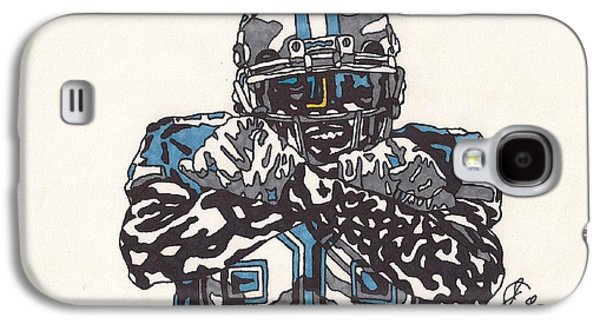 Bryant Drawings Galaxy S4 Cases - Dez Bryant Galaxy S4 Case by Jeremiah Colley