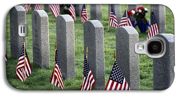 Headstones Galaxy S4 Cases - DFW National Cemetery Galaxy S4 Case by Joan Carroll
