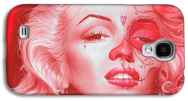 Marilyn Monroe - ' Dia De Los Monroe ' Galaxy S4 Case by Christian Chapman Art