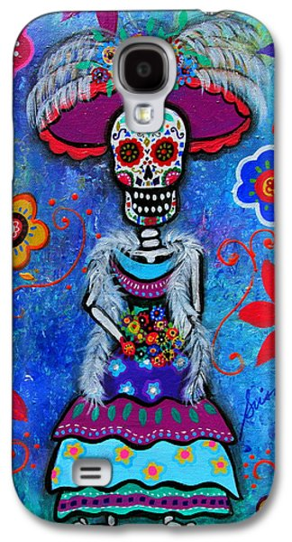 Diego Rivera Galaxy S4 Cases - Dia De Los Muertos Catrina Galaxy S4 Case by Pristine Cartera Turkus