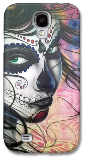 Girl Galaxy S4 Cases - Dia De Los Muertos Chica Galaxy S4 Case by Mike Royal