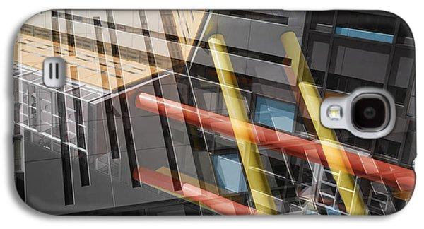 Chromatic Galaxy S4 Cases - Diagonal Mondrian Galaxy S4 Case by Wayne Sherriff