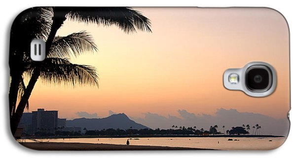 Beach Landscape Galaxy S4 Cases - Diamond Head Sunrise - Honolulu Hawaii Galaxy S4 Case by Brian Harig