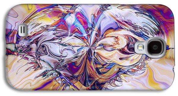 Abstract Digital Galaxy S4 Cases - Diamond Heart Galaxy S4 Case by Linda Sannuti