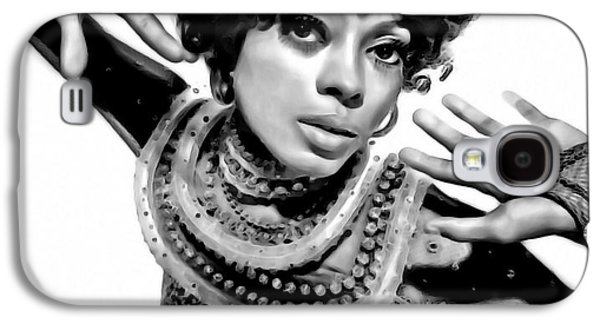 Gray Hair Galaxy S4 Cases - Diana Ross 2 Galaxy S4 Case by  Fli Art