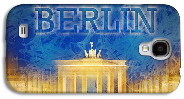 Abstract Sights Digital Galaxy S4 Cases - Digital-Art Brandenburg Gate II Galaxy S4 Case by Melanie Viola