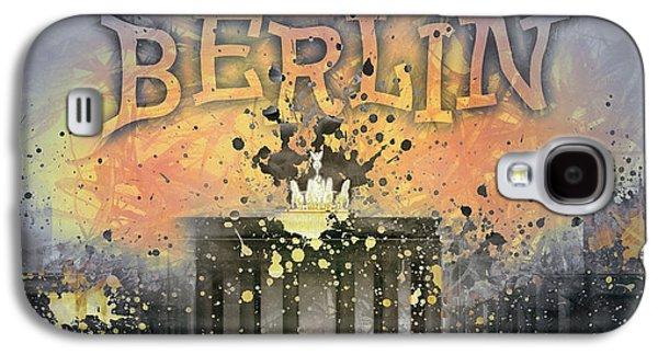 Abstract Sights Digital Galaxy S4 Cases - Digital-Art Brandenburg Gate I Galaxy S4 Case by Melanie Viola