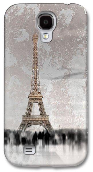 Abstract Sights Digital Galaxy S4 Cases - Digital-Art Eiffel Tower II Galaxy S4 Case by Melanie Viola