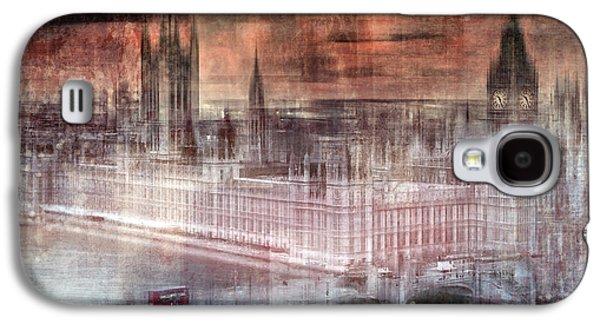 Abstract Sights Digital Galaxy S4 Cases - Digital-Art LONDON Westminster II Galaxy S4 Case by Melanie Viola