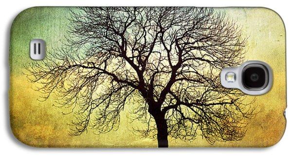 Nature Study Digital Art Galaxy S4 Cases - Digital Art Tree Silhouette Galaxy S4 Case by Natalie Kinnear