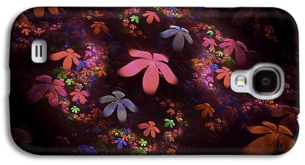 Fractal Art Galaxy S4 Cases - Digital FractalPsychedelic Flower Image Modern Fractal Art  Galaxy S4 Case by Keith Webber Jr