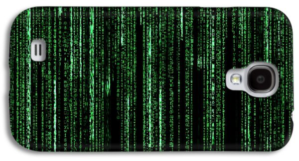Cyberspace Galaxy S4 Cases - Digital Rain Galaxy S4 Case by Semmick Photo