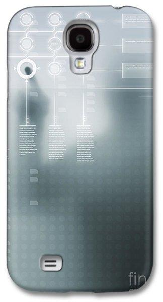 Virtual Galaxy S4 Cases - Digital User Interface Galaxy S4 Case by Carlos Caetano