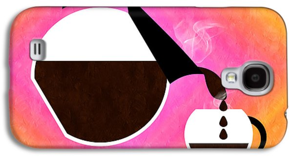 Sorbet Galaxy S4 Cases - Diner Coffee Pot And Cup Sorbet Pouring Galaxy S4 Case by Andee Design
