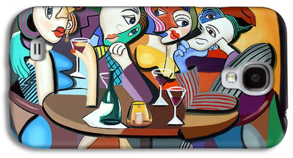Canvas Wine Prints Galaxy S4 Cases - Dinner At Marios Galaxy S4 Case by Anthony Falbo