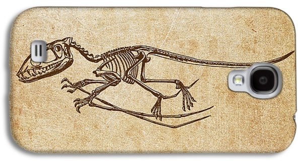 Extinct And Mythical Digital Art Galaxy S4 Cases - Dinosaur Pterodactylus Galaxy S4 Case by Aged Pixel