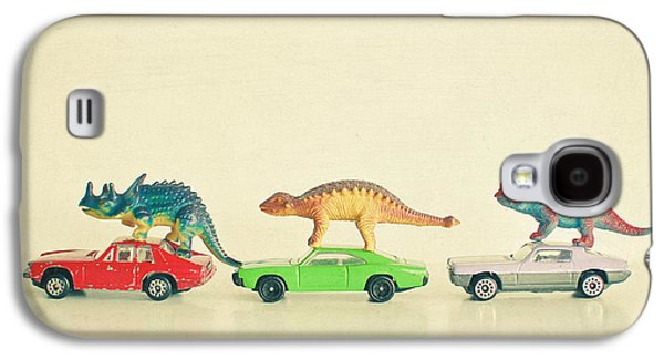 Dinosaurs Ride Cars Galaxy S4 Case by Cassia Beck