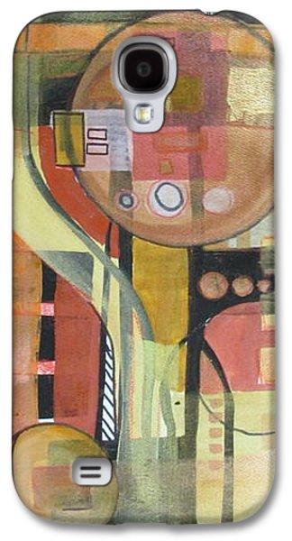 Curvilinear Paintings Galaxy S4 Cases - Directionally challenged Galaxy S4 Case by Patricia Mayhew Hamm