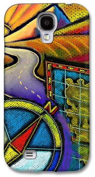 Mountainous Paintings Galaxy S4 Cases - Directions Galaxy S4 Case by Leon Zernitsky
