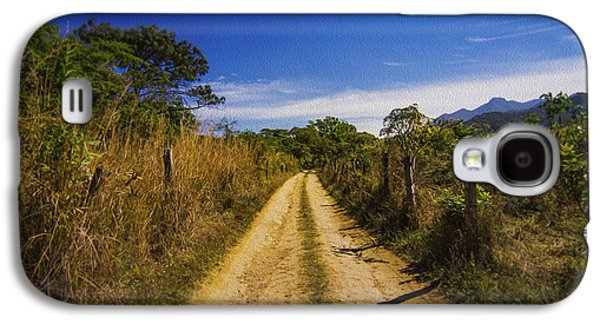 Walkway Digital Art Galaxy S4 Cases - Dirt Road Galaxy S4 Case by Aged Pixel