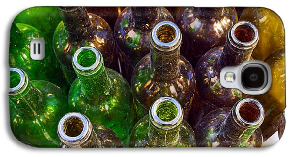 Messy Photographs Galaxy S4 Cases - Dirty Bottles Galaxy S4 Case by Carlos Caetano