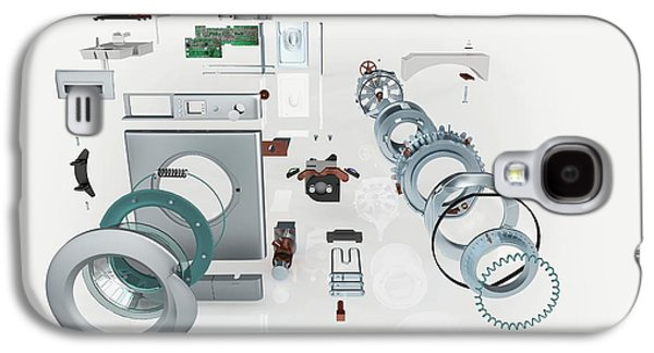 Disassembled Parts Of A Washing Machine Galaxy S4 Case by Dorling Kindersley/uig