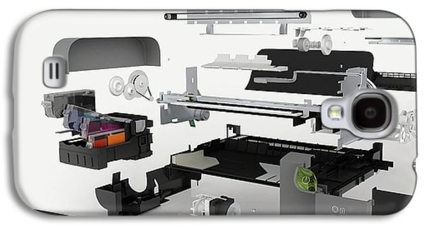 Disassembled Parts Of An Inkjet Printer Galaxy S4 Case by Dorling Kindersley/uig