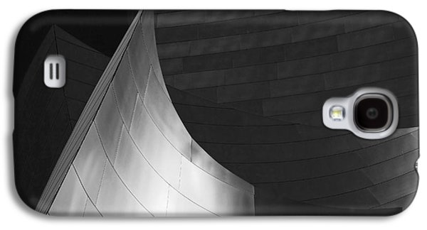 Disney Hall Abstract Black And White Galaxy S4 Case by Rona Black