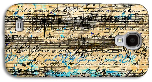 Music Score Galaxy S4 Cases - Maiorem Galaxy S4 Case by Gary Bodnar