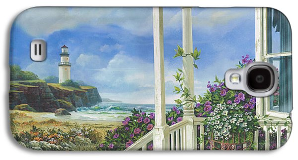 New England Lighthouse Paintings Galaxy S4 Cases - Distant Dreams Galaxy S4 Case by Michael Humphries