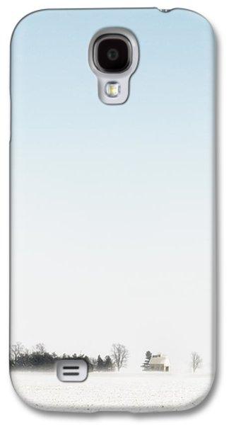 Pasture Scenes Galaxy S4 Cases - Distant Farm Galaxy S4 Case by Margie Hurwich
