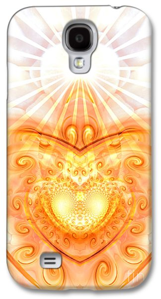 Healing Posters Galaxy S4 Cases - Divine Love Galaxy S4 Case by Indira Emmerlich