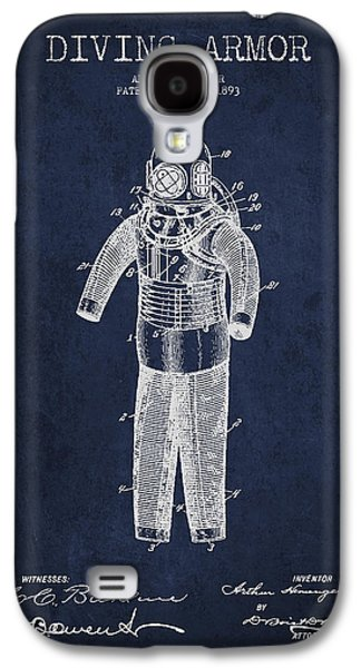 Armor Galaxy S4 Cases - Diving Armor Patent Drawing from 1893 Galaxy S4 Case by Aged Pixel
