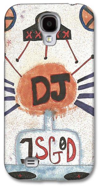 20th Drawings Galaxy S4 Cases - DJ is God Pop Graffiti Galaxy S4 Case by Edward X