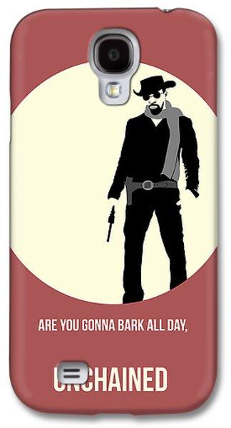 Western Digital Art Galaxy S4 Cases - Django Unchained Poster 2 Galaxy S4 Case by Naxart Studio