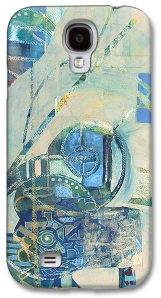 Curvilinear Paintings Galaxy S4 Cases - Do not leave important words unsaid Galaxy S4 Case by Patricia Mayhew Hamm