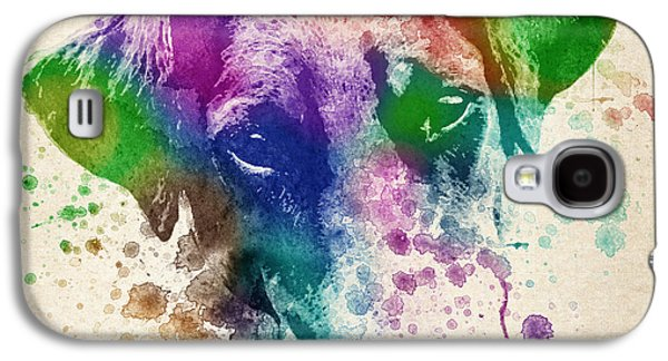 Puppy Digital Art Galaxy S4 Cases - Doberman Splash Galaxy S4 Case by Aged Pixel