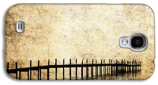 White River Scene Photographs Galaxy S4 Cases - Dock 2 Galaxy S4 Case by Skip Nall