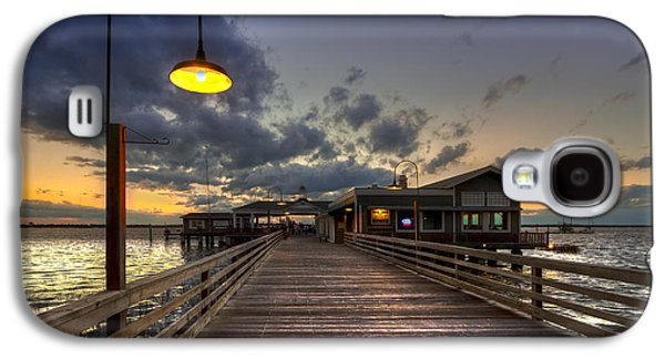 Dock Lights At Jekyll Island Galaxy S4 Case by Debra and Dave Vanderlaan