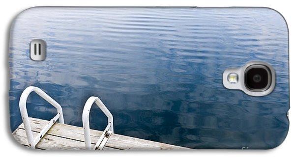 Wooden Platform Galaxy S4 Cases - Dock on calm summer lake Galaxy S4 Case by Elena Elisseeva