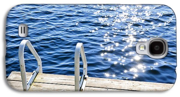 Recreation Photographs Galaxy S4 Cases - Dock on summer lake with sparkling water Galaxy S4 Case by Elena Elisseeva