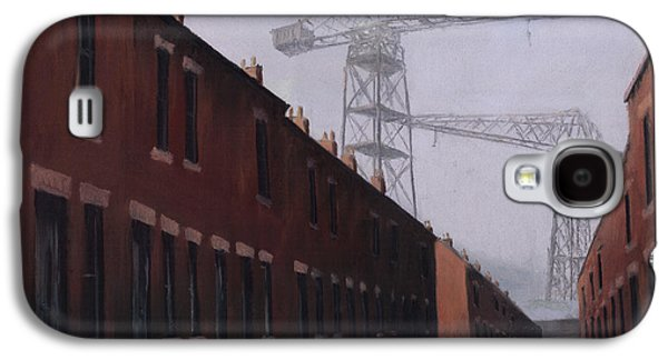 Industrial Pastels Galaxy S4 Cases - Dockers Monument Galaxy S4 Case by Michelle Milburn