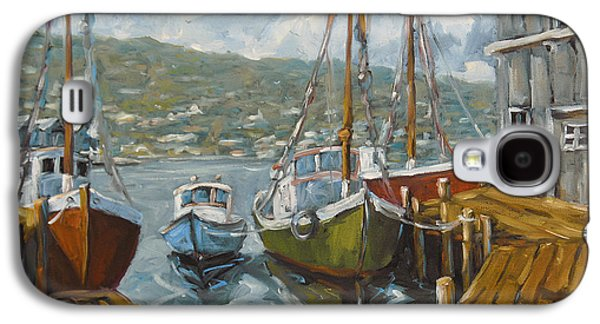 Canadiens Paintings Galaxy S4 Cases - Dockside Boats by Prankearts Galaxy S4 Case by Richard T Pranke