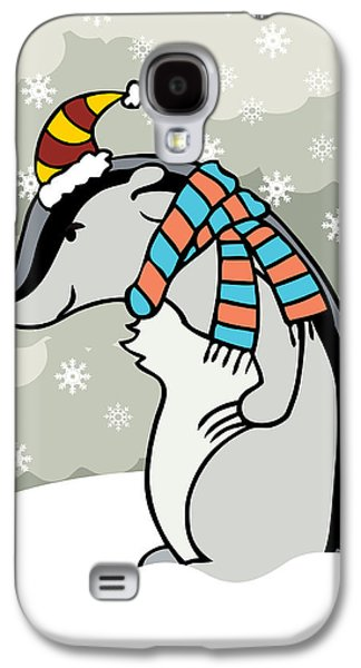 Winter Digital Art Galaxy S4 Cases - Doctor Derby Winter Galaxy S4 Case by Christy Beckwith
