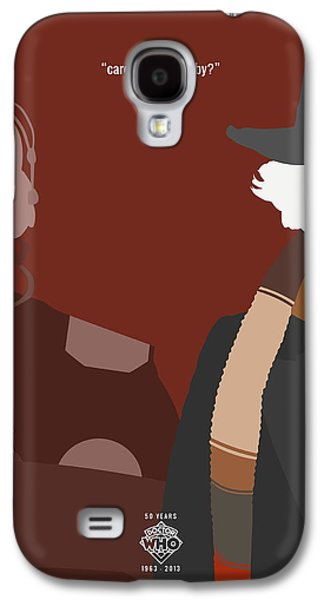 Tardis Galaxy S4 Cases - Doctor Who 50th Anniversary Poster Set Fourth Doctor Galaxy S4 Case by Jeff Bell