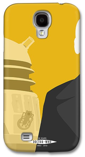 Tardis Galaxy S4 Cases - Doctor Who 50th Anniversary Poster Set Nineth Doctor Galaxy S4 Case by Jeff Bell